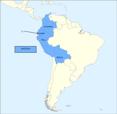 Landkarte Andengemeinschaft (Comunidad Andina de Naciones, CAN), unbekannter Ersteller, Stand: 16.07.2009; Bildquelle: © Europäische Union, 1995–2010, http://epp.eurostat.ec.europa.eu/portal/page/portal/international_statistical_cooperation/asia_and_latin_america/latin_america/andean_community_of_nations