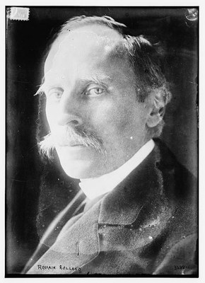 Romain Rolland (1866–1944), Schwarz-Weiß-Photographie, ohne Datum, unbekannter Photograph; Bildquelle: Library of Congress, Prints and Photographs Division Washington, http://hdl.loc.gov/loc.pnp/ggbain.20505.