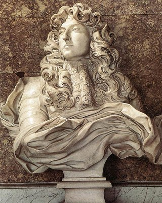 Gianlorenzo Bernini (1598–1680), Büste von Ludwig XIV. (1638–1715), weißer Marmor, 1665, Diana-Salon, Versailles, Photograph: Louis le Grand, 2006; Bildquelle: Wikimedia Commons, http://commons.wikimedia.org/wiki/File:LouisXIV-Bernini.jpg.Creative Commons Attribution-Share Alike 2.5 Generic