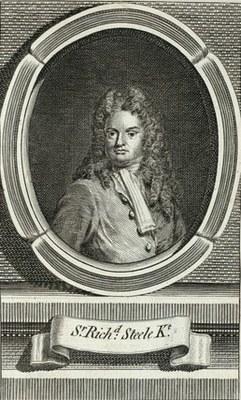 Thomas Addis Emmet (1828–1919): Sr. Richard Steele Kt. (1672–1729), Kupferstich, 1880. Bildquelle: New York Public Library, http://digitalgallery.nypl.org/nypldigital/id?EM12237.