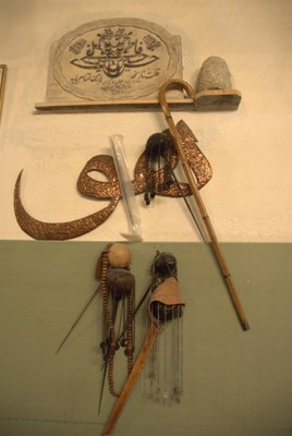Implements for piercing rituals, black-and-white photograph, April 2009, photographer: Nathalie Clayer; source: in private ownership.