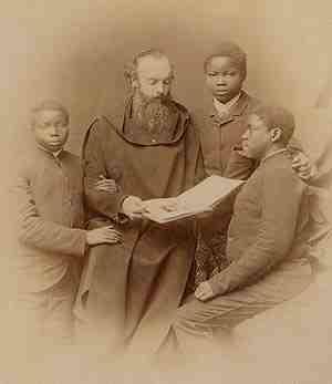 Andreas Amrhein (1844–1927), Schwarz-Weiß-Photographie, unbekannter Photograph; Bildquelle: Archiv Erzabtei St. Ottilien.