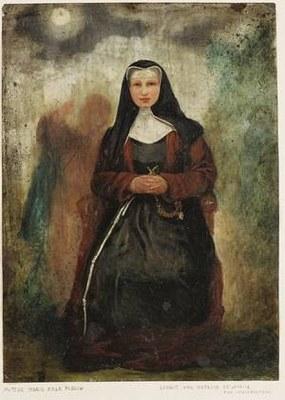 Oktavie de Lasalle von Luisenthal (1811–1890), Portrait von Margaretha Rosa Flesch (1826–1906); Bildquelle: Mit freundlicher Genehmigung der Waldbreitbacher Franziskanerinnen BMVA, http://wf.dgserver18.de/Gruenderin-Mutter-Rosa.33.0.html.