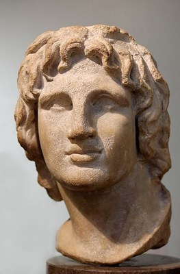 Alexander the Great (356–323 BC), marble from Alexandria, Egypt, undated, unknown sculptor, photographer: Marie-Lan Nguyen; source: Wikimedia Commons, http://commons.wikimedia.org/wiki/File:Bust_Alexander_BM_1857.jpg.