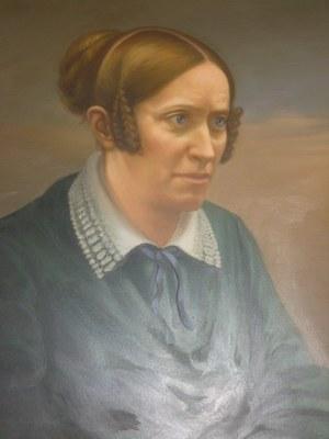 Gottfried von Thüngen, Portrait Annette von Droste-Hülshoff (1797–1848), Ölgemälde nach einer Daguerreotypie um 1845, Burg Meersburg am Bodensee; Bildquelle: eigene Photographie, Photographin: Lisa Landes.