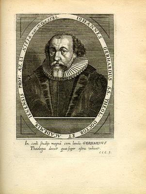 Portrait von Johann Gerhard (1582–1637), Kupferstich, 17. Jahrhundert, unbekannter Künstler Bildquelle: Digitalisat der Universität Mannheim, MATEO, http://www.uni-mannheim.de/mateo/desbillons/aport/gif/aport369.gif.