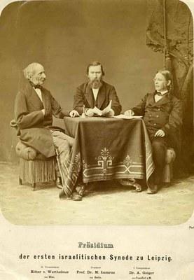 Joseph Ritter von Wertheimer, Moritz Lazarus and Abraham Geiger