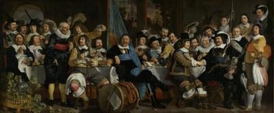 Bartholomeus van der Helst (1613–1670), Banquet at the Crossbowmen's Guild in Celebration of the Treaty of Münster, 1648