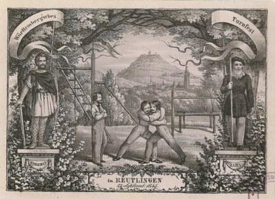Württemberg Turnfest in Reutlingen, 1845