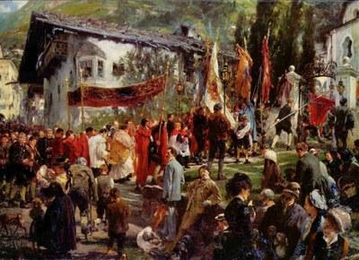 Adolph von Menzel, Prozession in Hofgastein, 1880