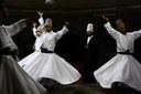 Semâ-Zeremonie im Kulturzentrum des Derwischordens in Avanos, Türkei IMG