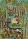 Täuferversammlung im Wald – umringt von Täuferjägern IMG