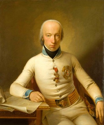 Johann Baptist Seele (1774–1814), Archduke Charles of Austria in the uniform of the colonel of the infantry regiment no 3, 1800; source: Heeresgeschichtliches Museum Wien.