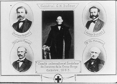 Die Gründerväter des Roten Kreuzes, ca. 1863