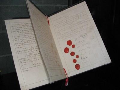 Originaldokument der ersten Genfer Konvention, 1864