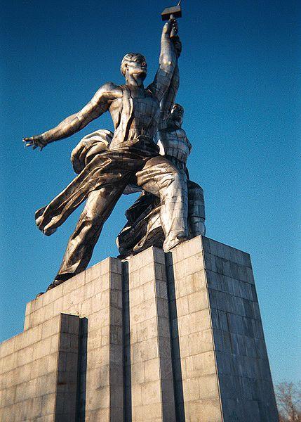 """Sculpture """"Rabochiy i Kolkhoznitsa"""" 1937 IMG"""