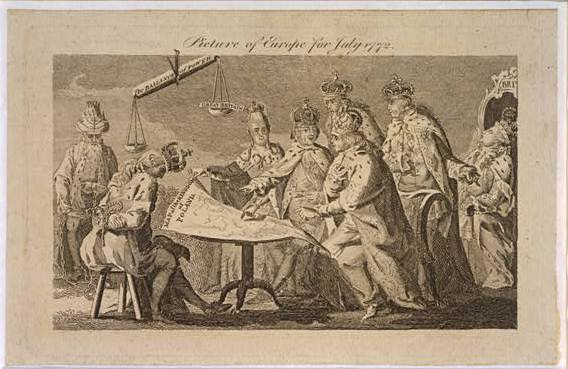 """Englische Karikatur """"Picture of Europe for July 1772"""" IMG"""
