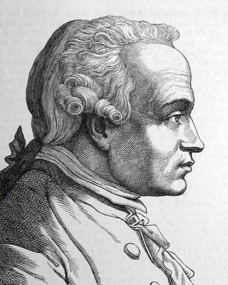 Hugo Bürkner (1818–1897), Portrait von Immanuel Kant (1724–1804), Stich, 1854; Bildquelle: Bechstein, Ludwig: Zweihundert deutsche Männer in Bildnissen und Lebensbeschreibungen, Leipzig 1854.