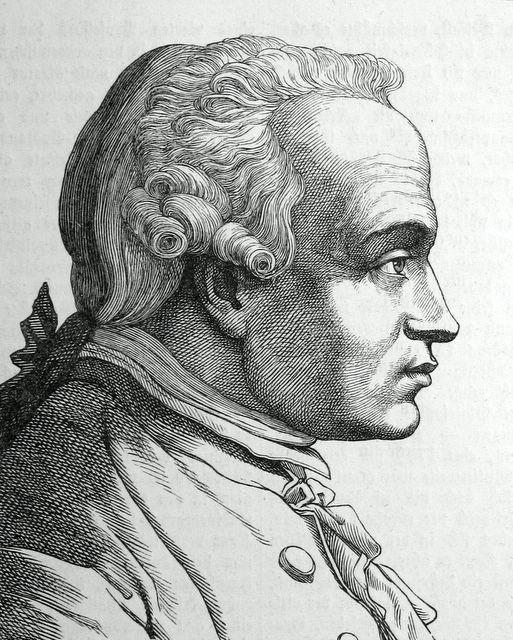 Hugo Bürkner (1818–1897), Portrait Immanuel Kant (1724–1804), Stich, 1854; Bildquelle: Bechstein, Ludwig: Zweihundert deutsche Männer in Bildnissen und Lebensbeschreibungen, Leipzig 1854