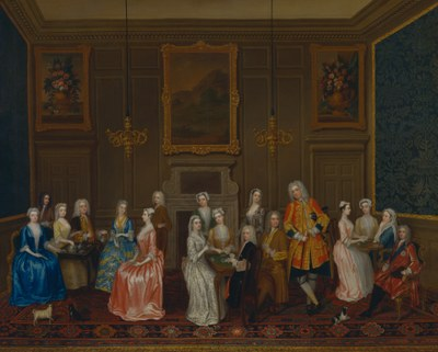 Charles Philips (1708–1747), Tea Party bei Lord Harrington