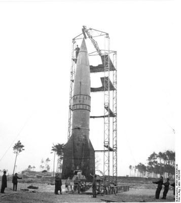 Raketenrampe mit V2, Peenemünde