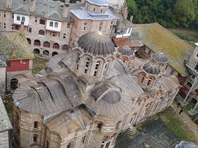 Monastery of Hilandar on Mount Athos
