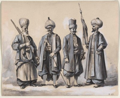 Janitscharen am Beginn des 19. Jahrhunderts