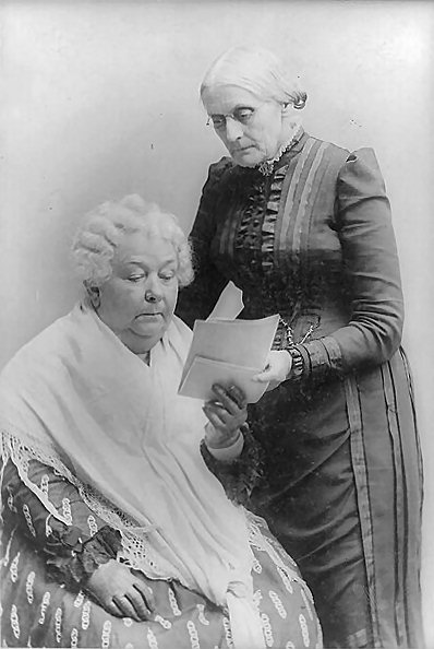 Susan Brownell Anthony (1820–1906) and Elizabeth Cady Stanton (1815–1902), black-and-white photograph, date unknown [between c. 1880 and 1902], unknown photographer; source: Library of Congress, Prints and Photographs Division, http://hdl.loc.gov/loc.pnp/cph.3a02558.