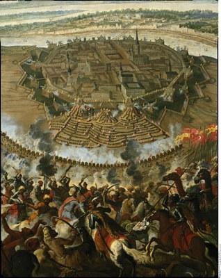 Franz Geffels, Die Belagerung Wiens durch die Türken im Jahre 1683, Öl auf Leinwand, um 1685; Bildquelle: Bildagentur für Kunst, Kultur und Geschichte (bpk), Bildnummer 00015706.