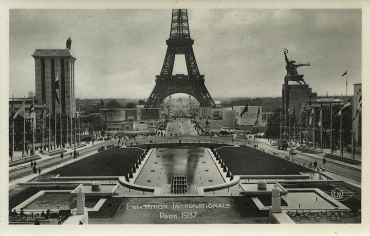 Exposition Internationale Paris 1937, Vue d'Ensemble Prise du Trocadero