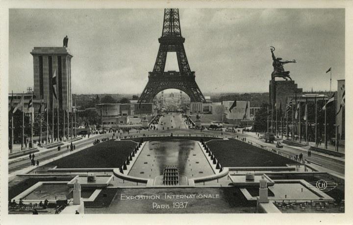 Exposition Internationale Paris 1937, Vue d'Ensemble Prise du Trocadero