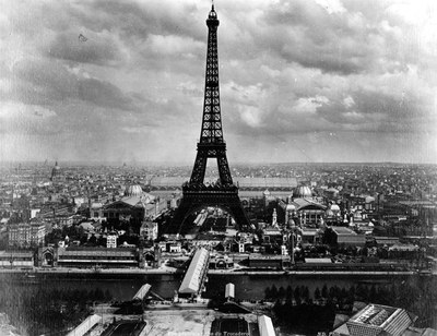 View of Eiffel Tower and Exposition Buildings