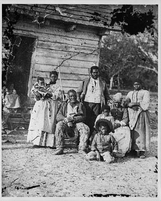 Fünf Generationen von Sklaven in Beaufort, South Carolina, 1862
