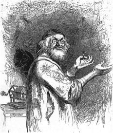 """J.J. Grandville (1803–1847), Karikaturen aus """"Gullivers Reisen"""", 1843; Bildquelle: Swift, Jonathan: Gullivers Reisen in unbekannte Länder, Stuttgart 1843, vol. 2,  S. 61."""