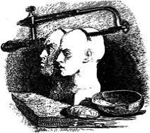 """J.J. Grandville (1803–1847), Karikaturen aus """"Gullivers Reisen"""", 1843; Bildquelle: Swift, Jonathan: Gullivers Reisen in unbekannte Länder, Stuttgart 1843, vol. 2, S. 76."""
