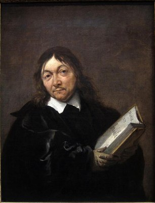 Jan Baptist Weenix (1621–1659), Portrait von René Descartes (1596–1650), Öl auf Leinwand, 45,1 x  34,9 cm, ca. 1647–1649; Bildquelle:  © Collectie Centraal Museum, Utrecht/Ruben de Heer http://www.centraalmuseum.nl