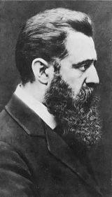 Portrait von Theodor Herzl (1860–1904), Schwarz-Weiß-Photographie, 1904, unbekannter Photograph; Bildquelle: Wikimedia Commons, http://commons.wikimedia.org/wiki/Image:Theodr-Herzl-1904.jpg, gemeinfrei.